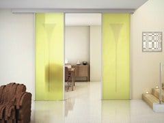 - Glass sliding door with pelmet SINTHESY QUADRA - FOA
