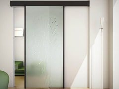 - Glass Sliding door with pelmet SINTHESY STYLO - FOA