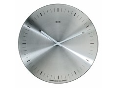 - Wall-mounted brushed steel clock ORARIO | Brushed steel clock - REXITE
