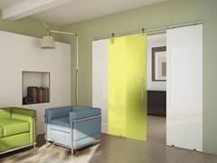 - Sliding door with fixed side wings TEKNO UNO - FOA