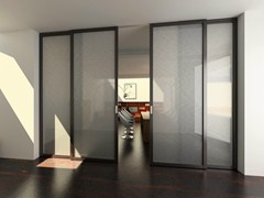 - Glass sliding doors with rails for suspended ceilings FLAT F1 - FOA