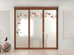 - Sliding door with fixed side wings ARIANNA - FOA