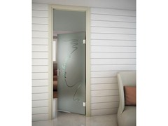 - Swing door and transom with jamb SINTHESY SLIVER V1 - FOA