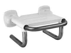 Sedile doccia ribaltabile in acciaio inoxBAGNOSICURO®-ACCIAIO INOX LUCIDO - PONTE GIULIO