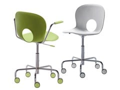 - Task chair with 5-Spoke base with casters OLIVIA | Chair with 5-spoke base - REXITE