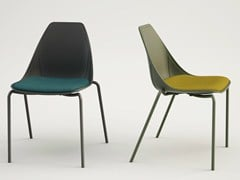 - Upholstered fabric chair X FOUR SOFT - ALMA DESIGN