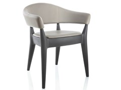 - Upholstered leather easy chair JO SOFT - ALMA DESIGN