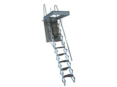 - Motorized steel Retractable stair STARLUX ELEGANT - LUXIN