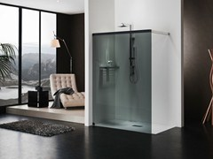 - Rectangular crystal shower cabin LIBERO 5000 - DUKA