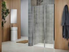 - Crystal shower cabin with tray VELA 2000 - DUKA