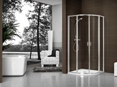 - Crystal shower cabin with tray DUKESSA-S 3000 - DUKA