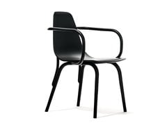 - Wooden chair with armrests TRAM | Chair with armrests - TON