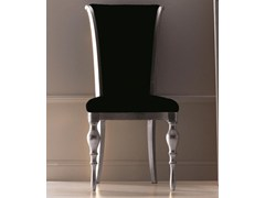 - Upholstered high-back fabric chair ZOE - CorteZari