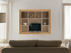 - Wooden TV cabinet with shelves ZOE - CorteZari