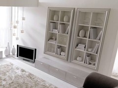 - Open lacquered wooden bookcase ZOE - CorteZari