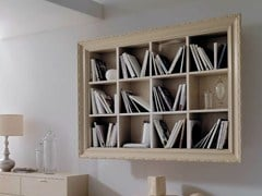 - Open floating wooden bookcase GRETA - CorteZari