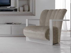 - Upholstered armchair with armrests LEON | Armchair - CorteZari
