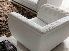 - Leather armchair with armrests LAPO-QUILT - CorteZari