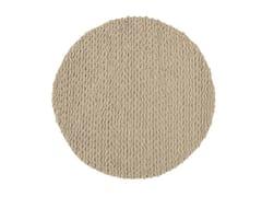 - Solid-color round rug TRENZAS | Round rug - GAN By Gandia Blasco