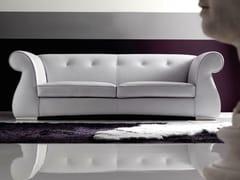 - 3 seater leather sofa ODRA-QUILT - CorteZari