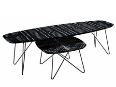 - Coffee table with resin-coated fabric top INK - Zanotta