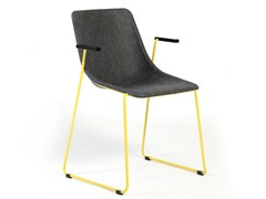 - Sled base chair with armrests KOLA | Chair with armrests - Inno Interior Oy