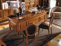 - Cherry wood writing desk TORINO | Cherry wood writing desk - Martini Mobili