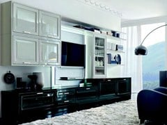 - Lacquered TV wall system CONVIVIO | Storage wall - Martini Mobili