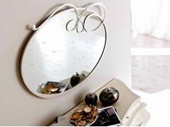 - Wall-mounted framed round mirror BIZET - CorteZari