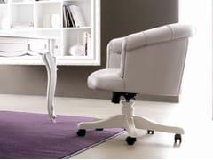 - Swivel leather armchair with 5-spoke base PASCAL - CorteZari