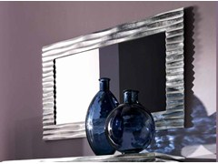 - Wall-mounted framed rectangular mirror EBON - CorteZari