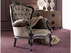 - Upholstered armchair with armrests GEMMA - CorteZari