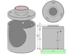 Vasca a tenuta stagna in calcestruzzo Vasca cls stagna capacità Litri 2.100 - ALDO LARCHER