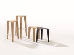- Low oak stool PLY | Low stool - Arper