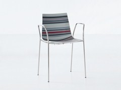 - Stackable technopolymer chair with armrests COLORFIVE TB - GABER