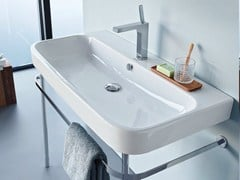- Console ceramic washbasin HAPPY D.2 | Console washbasin - DURAVIT