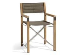 - Folding Batyline® chair CROSS | Teak garden chair - MANUTTI