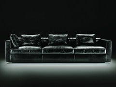 - 4 seater leather sofa DAVOS | Leather sofa - Giulio Marelli Italia