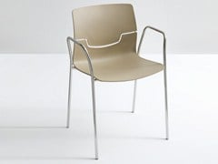 - Stackable polypropylene chair with armrests SLOT TB - GABER