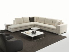 - Sectional corner fabric sofa with removable cover PARK 1 | Corner sofa - Giulio Marelli Italia