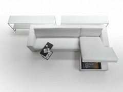 - Corner leather sofa bed REM | Leather sofa bed - Giulio Marelli Italia