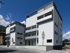 Sistema per facciata in cemento fibrorinforzato e isolantePIZ Intelligent Surface - PIZ