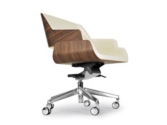 - Swivel chair with 5-spoke base with casters ROSE OFFICE - Riccardo Rivoli Design