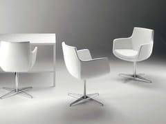 - Swivel easy chair with 4-spoke base with armrests FELIX STAR - Riccardo Rivoli Design