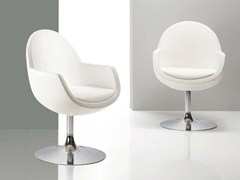 - Swivel upholstered easy chair with armrests CINDY ROUND - Riccardo Rivoli Design