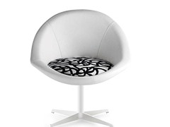 - Swivel easy chair with 4-spoke base BEIJA STAR - Riccardo Rivoli Design