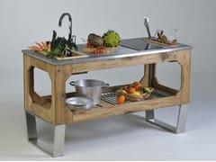 - Steel and wood outdoor kitchen WINDOW MOUNTAIN - Lgtek Outdoor