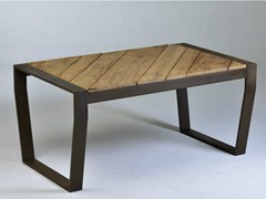 - Rectangular reclaimed wood table OSCAR MOUNTAIN - Lgtek Outdoor