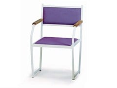 - Upholstered chair with armrests MARIN | Upholstered chair - Lgtek Outdoor