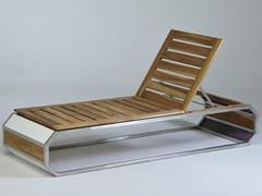 - Stackable stainless steel and wood garden daybed TRAK - Lgtek Outdoor